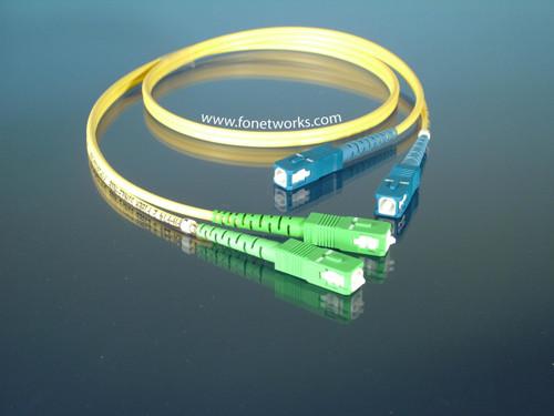 Singlemode Duplex Cable Assembly SC/APC-SC/UPC