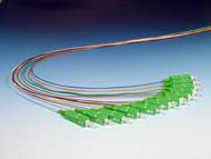 6 Color Coded Singlemode SC (APC) Pigtails