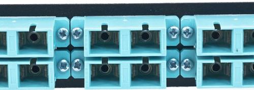 MAP Series Adapter Plates - 12 SC Multimode Duplex Aqua
