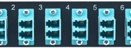 MAP Series Adapter Plates - 12 LC Multimode Duplex Aqua