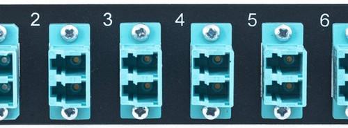 MAP Series Adapter Plates - 12 LC Multimode Duplex Aqua