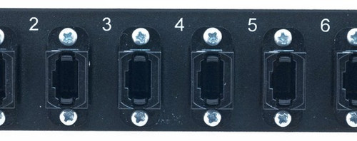 MAP Series Adapter Plates - 6 MPO Simplex Black