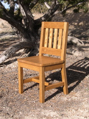 "Children's Chair, Red Oak 12"" Seat Height - Honey Brown Finish"