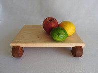 Petite Maple and Brazillian Cherry Footed Cutting Board