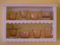Scallop Wall Shelf  14 1/2-in H - Distressed Vanilla Cream Painted Finish