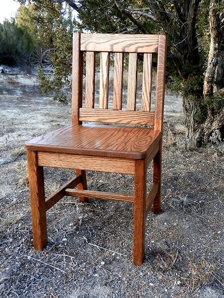 Child Chair 14in seat height Dark Oak finish