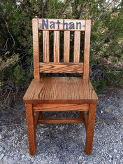 personalized Dk Oak child chair Nathan
