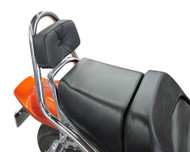 Renntec® Sissy Bar w/Backrest Pad - Chrome (85-07 All)