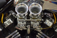 Polished VGAS Carburetors with shorter velocity stacks.