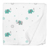 Elephant Jersey Stroller Blanket
