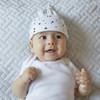 Triangles Gumnut Jersey Baby Hat 2pk