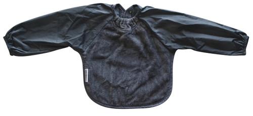 Grey Towel Long Sleeve Bib