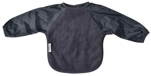 Grey Fleece Long Sleeve Bib