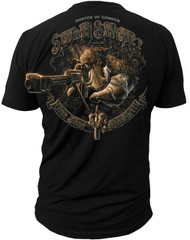 Men's Marines T-Shirt - US Marines H.O.G. Scout Sniper Marines - Black - Back