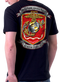 Men's Marines T-Shirt - US Marines ONCE A MARINE ALWAYS A MARINE - Model - Back