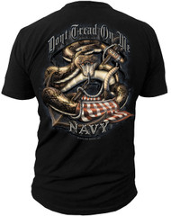 Men's Navy T-Shirt - US Navy Dont Tread On Me - Back