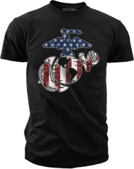 Men's Marines T-Shirt - USMC EG&A Stars & Stripes - Front