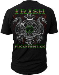 Men's Fire Fighter T-shirt - Irish Firefighter - Back