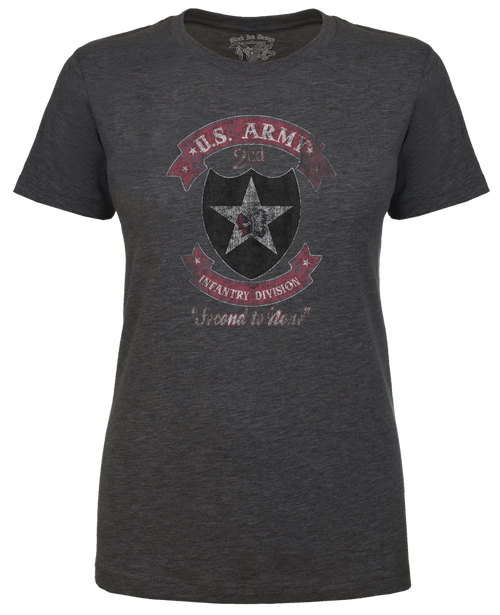 Lady's Army T-shirt - 2nd Infantry US Army - Second to None