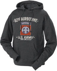 Men's and Women's Army Hoodie - 82nd Airborne Army All American Retro Hooded Sweatshirt