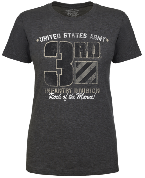 Lady's T-Shirt - 3rd Infantry Army - Rock of the Marne Retro Women's US Army