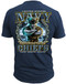 Men's Navy T-Shirt - US Navy Chief Backbone of the Fleet - United States Navy - Blue