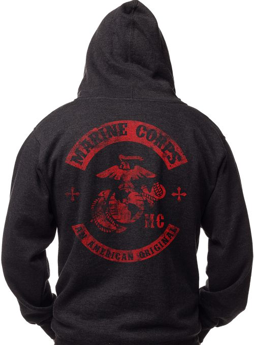 Men's and Lady's Hoodie - Marines - An American Original Sweatshirt Back