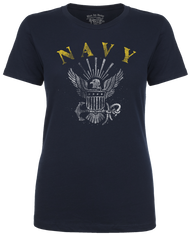 Lady's shirt - U.S. Navy Classic Emblem Women's Soft Spun T-shirt