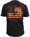 Men's Warning Flag - American Pride - Warning Flag T-shirt Back