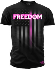 Men's Freedom Tee BCA  - American Pride - Freedom T-shirt Pink & Black