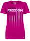 Lady's Pink FREEDOM T-Shirt - American Pride - Freedom Tee - Pink T-shirt