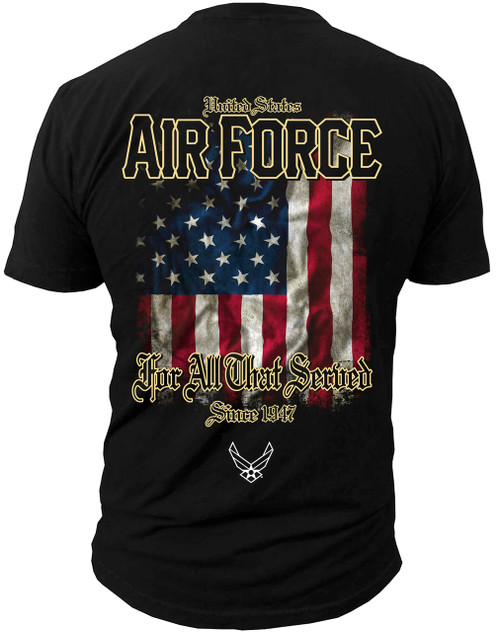 Men's Shirt - U.S. Air Force For All That Served Men's T-Shirt Back