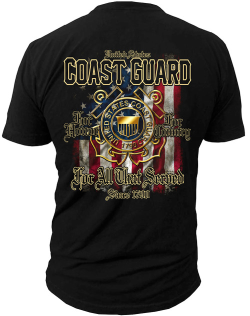 Men's Shirt - U.S. Coast Guard For All That Served Men's T-Shirt Back