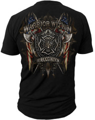 Men's Firefighter T-shirt - Warrior Within - Back