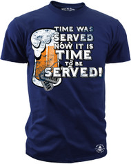 Men's T-Shirt - Time Was Served - Time to be Served - American Pride Shirt - Army, Marines, Navy, Air Force, Coast Guard