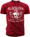 Black Ink's Mens Day of the Dead Live Free Ride Hard T-Shirt Red