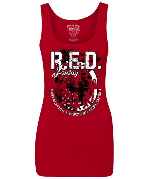 Women's R.E.D. Friday Tank Top - American Pride - Remember Everyone Deployed Tank