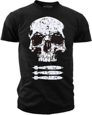 Men's Military T-Shirt - Skull and Bombs Patriot