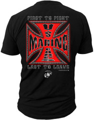 Men's Marines T-Shirt - US Marines Shirt USMC -  Back