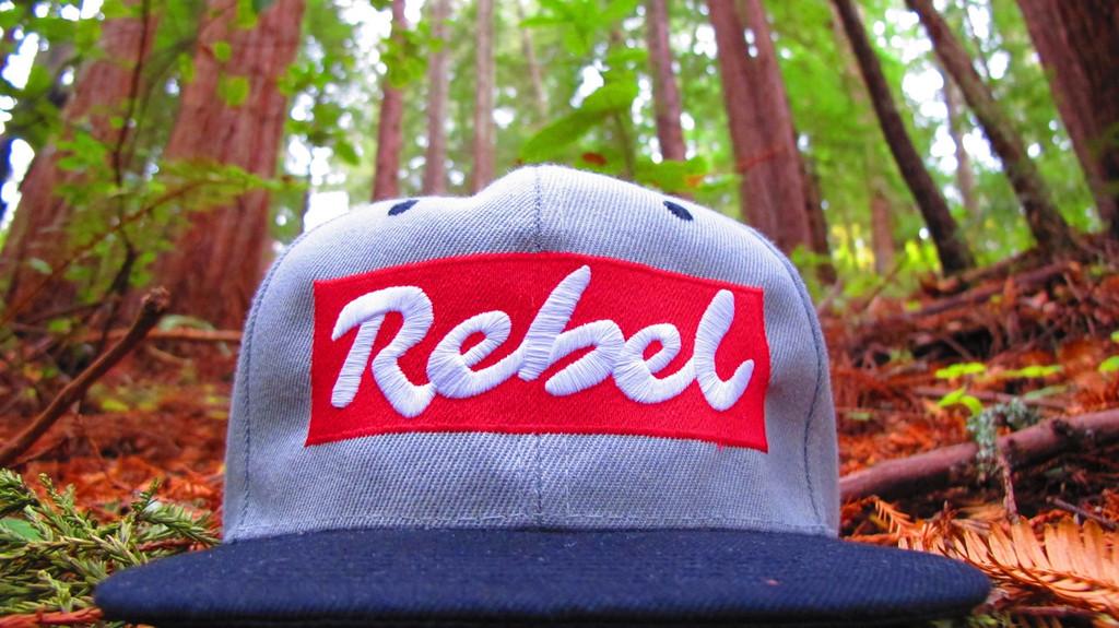 OG Light Grey Snapback Rebel Hat with Black Brim
