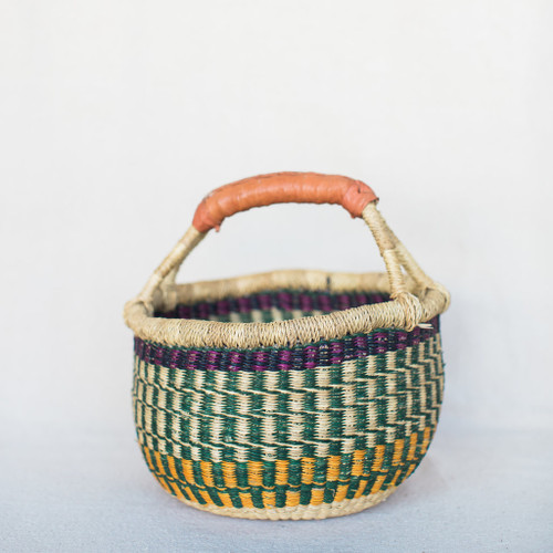 West African Bolga Basket - Colorful
