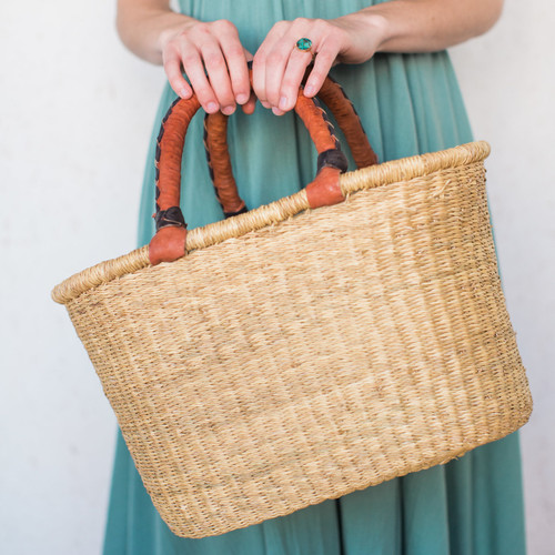 Midland : West African Oval Basket Bag
