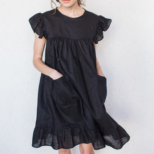 KKIBO : Ruffle Sleeve Dress