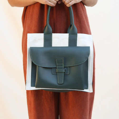 Agnes Baddoo : Sac 1 - Midland Green & Canvas