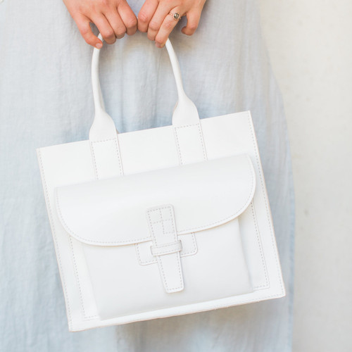 Agnes Baddo : Sac 1 White Leather