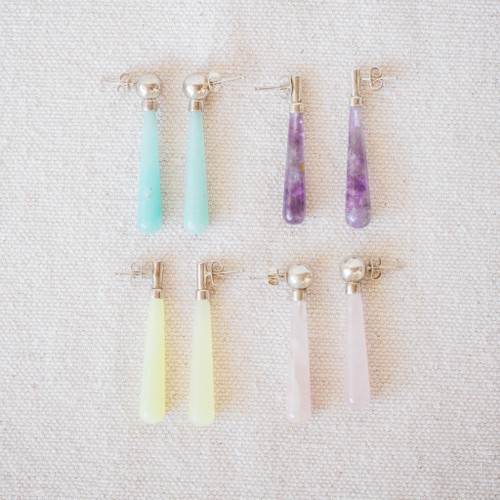 Lucy Michel : Mineral Stone Earrings