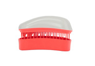 Dessata - Neon Coral Collection - Mini Detangling Brush - White-Coral