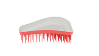 Dessata - Neon Coral Collection - Maxi Detangling Brush - White-Coral