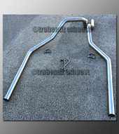 """97-99 Ford F-250 Dual Exhaust Tailpipes - 2.5"""" Aluminized"""