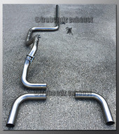 00-05 Dodge Neon Dual Exhaust Tubing - 2.25 Inch Aluminized